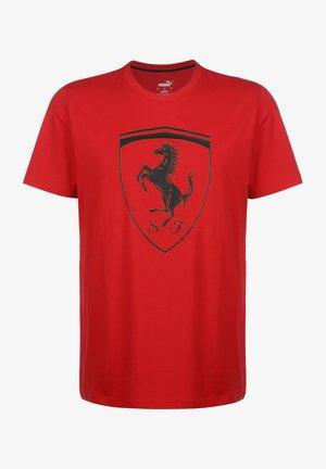 SCUDERIA FERRARI BIG SHIELD - T-shirts print - racing red
