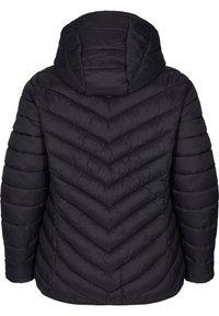 Zizzi - GESTEPPTE MIT KAPUZE UND TASCHEN - Light jacket - black - 1