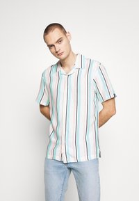 Common Kollectiv - UNISEX STRIPED SHORT SLEEVE - Shirt - white - 0