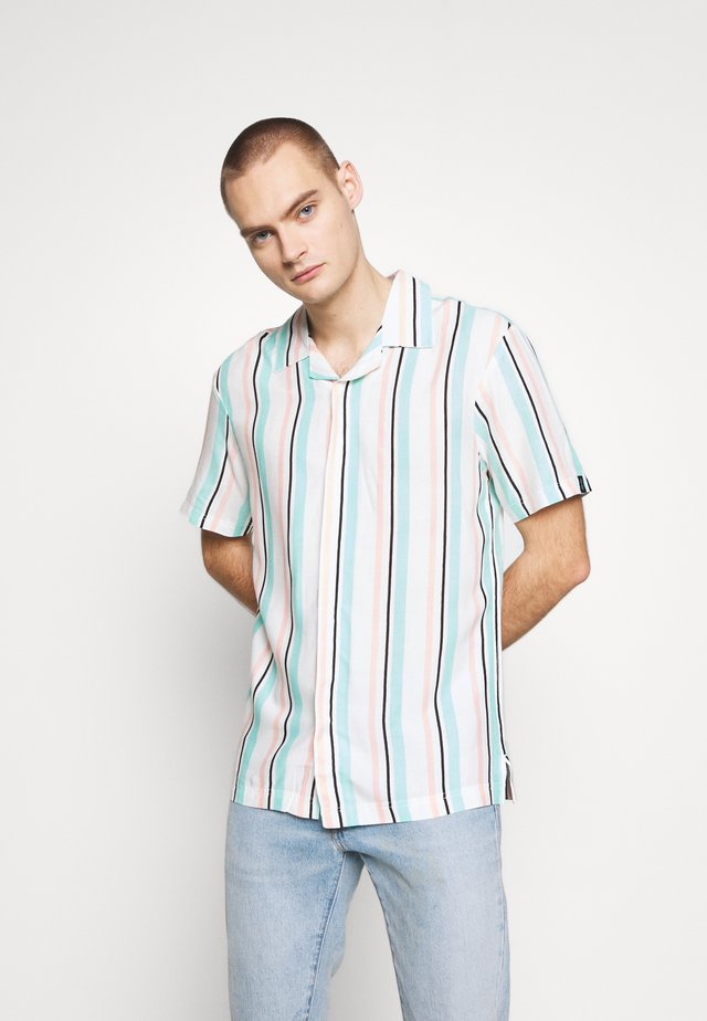 UNISEX STRIPED SHORT SLEEVE - Skjorta - white