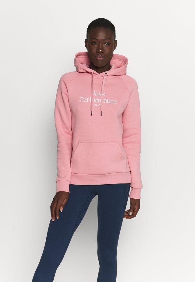 ORIGINAL HOOD - Sweatshirt - warm blush