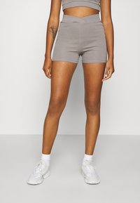 Nly by Nelly - WRAP WAIST MINI SET - Tracksuit bottoms - gray - 4