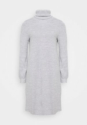 TURTLENECK DRESS - Jumper dress - light grey marle