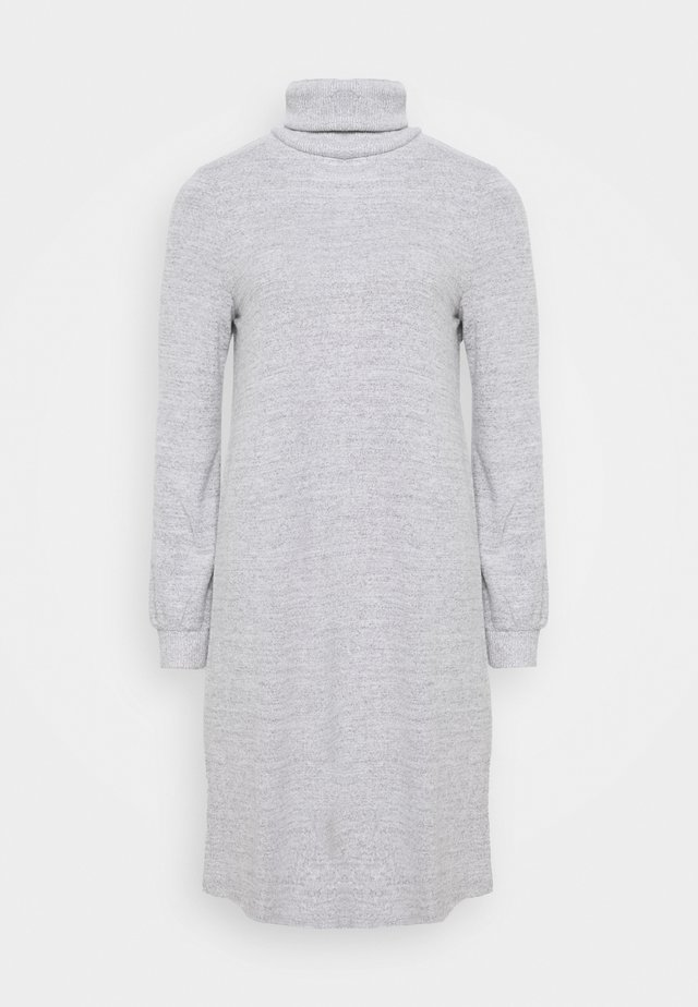 TURTLENECK DRESS - Strikket kjole - light grey marle