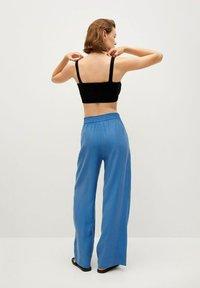 Mango - Trousers - blå - 1
