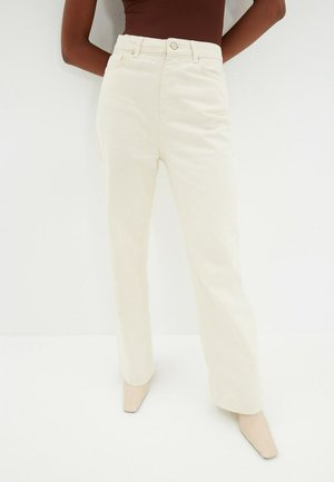 Relaxed fit jeans - cream