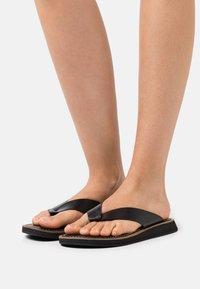 rag & bone - PARKER THONG - T-bar sandals - black - 0