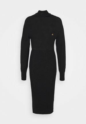 BEA DRESS - Stickad klänning - black