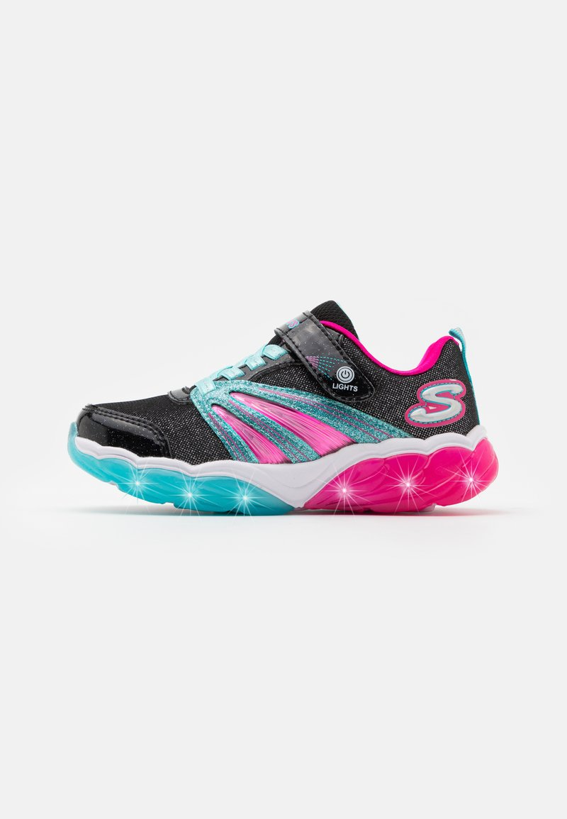 Skechers - FUSION FLASH - Trainers - black/turquoise/neon pink