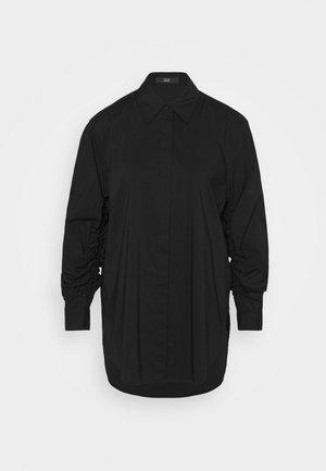 CLEMANDE FANCY SLEEVE BLOUSE - Button-down blouse - black