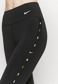 Nike Performance - ONE TAPING - Leggings - black/white - 4