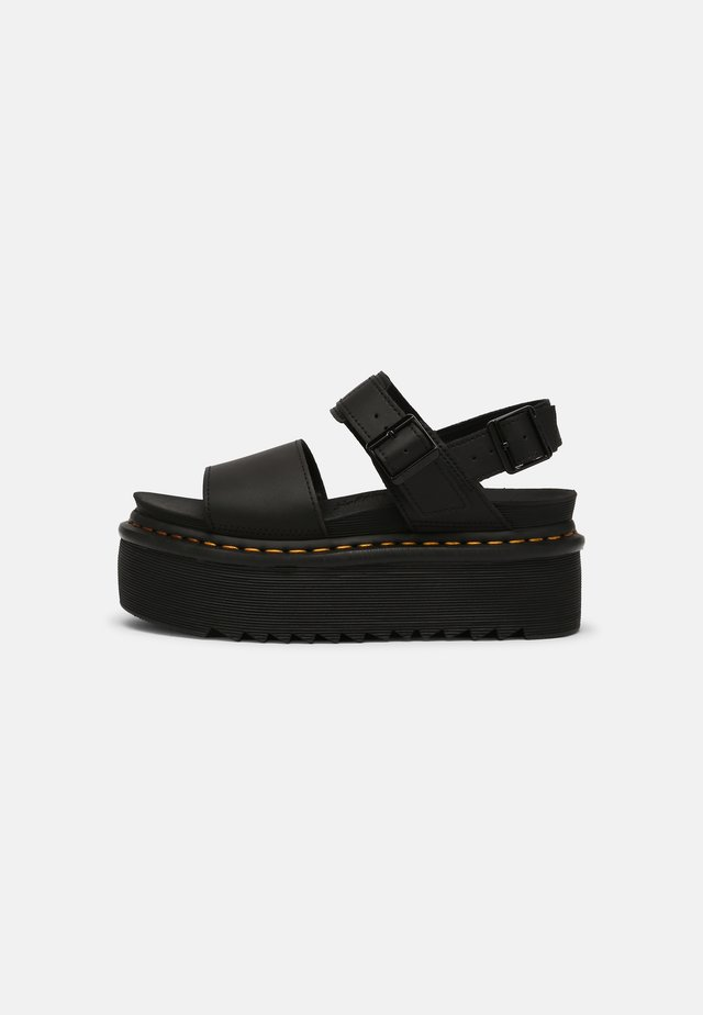 VOSS QUAD - Korkeakorkoiset sandaalit - black hydro