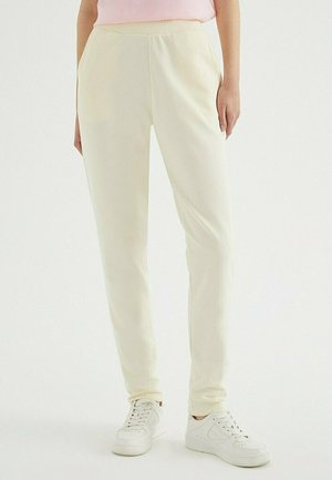 ENJOY CUFFED - Tracksuit bottoms - pearled ivory