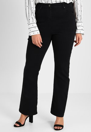 KIM HIGH WAIST SUPER SOFT  - Bootcut jeans - black