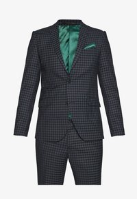 CHECKED SUIT - Traje - navy