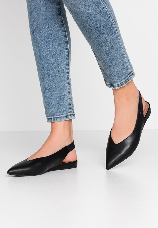 VEGAN EFFIE - Slingback ballet pumps - black