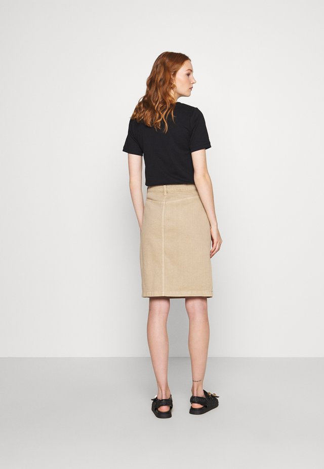 MILNA SKIRT - Pencil skirt - silver mink
