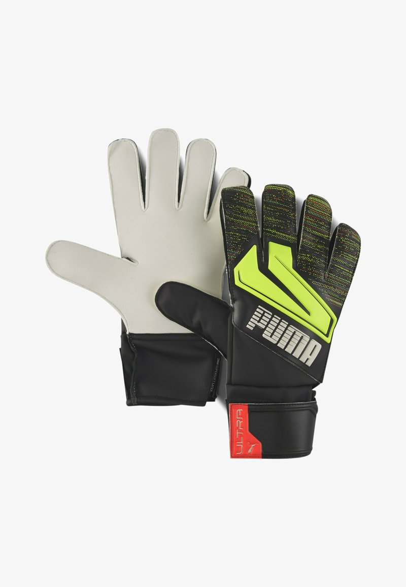 Puma - Goalkeeping gloves - black-yellow alert
