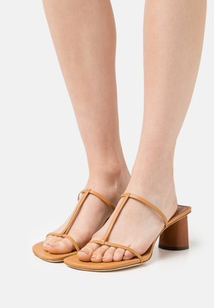 ERIN  - Heeled mules - tan