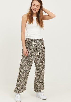 JILL - Trousers - gravel printed