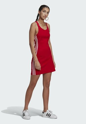 RACER DRESS - Jersey dress - scarlet