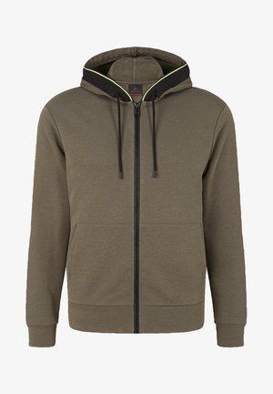 CORK - Zip-up sweatshirt - oliv-grün