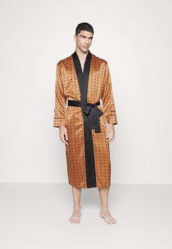 REVERSIBLE ROBE UNISEX - Dressing gown - cognac