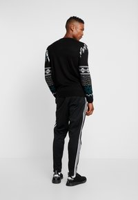New Look - WOLF FAIRISLE CREW - Svetr - black - 2