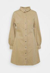 MOONSTONE DRESS - Denim dress - camel