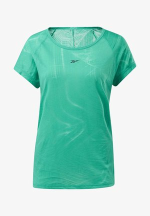 BURNOUT T-SHIRT - Print T-shirt - green