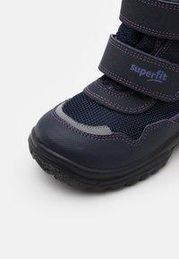 Superfit - SNOWCAT - Winter boots - blau/lila - 5