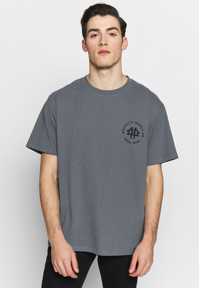 LOGO TEE - T-shirt con stampa - blue