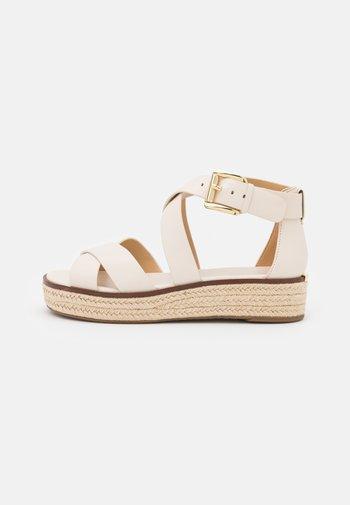 DARBY - Platform sandals - light cream