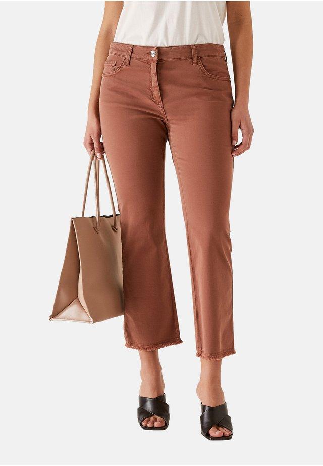 Jeans bootcut - marrone