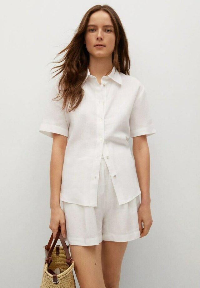 Skjortebluser - blanc cassé