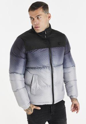 PRINTED CROP BUBBLE - Winter jacket - black/grey