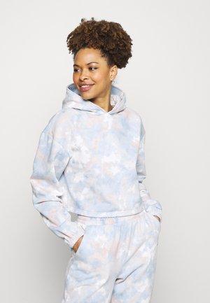 TIE DYE CROPPED HOODY - Pyžamový top - multi