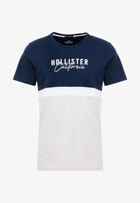 Hollister Co. - CORE TECH SMALL SCALE BLOCK  - Print T-shirt - navy/tan - 3