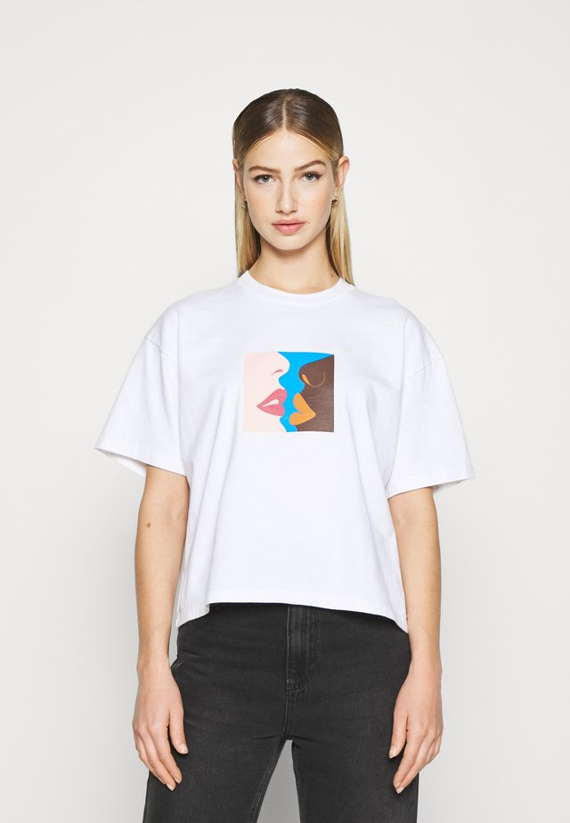 HERS - T-shirt con stampa - white