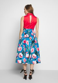 Closet - COLLAR FULL SKIRT DRESS - Vestito elegante - red - 2
