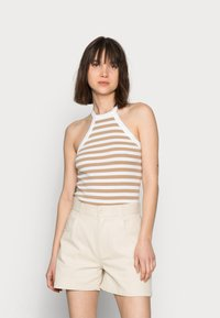Selected Femme - SLFANALIPA TOP STRIPE - Top - bright white/ kelp - 0