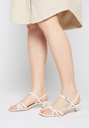 BALI - Sandals - milk/silver