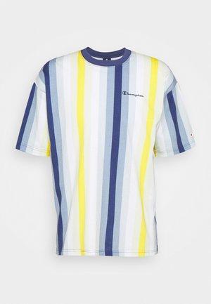 Print T-shirt - blue/yellow