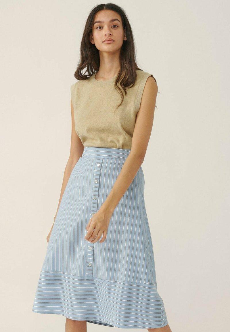 Moss Copenhagen - A-line skirt - powder blue