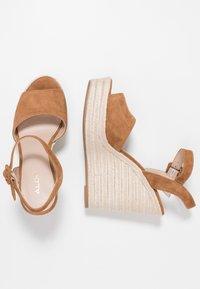 ALDO - YBELANI - High heeled sandals - light brown - 3