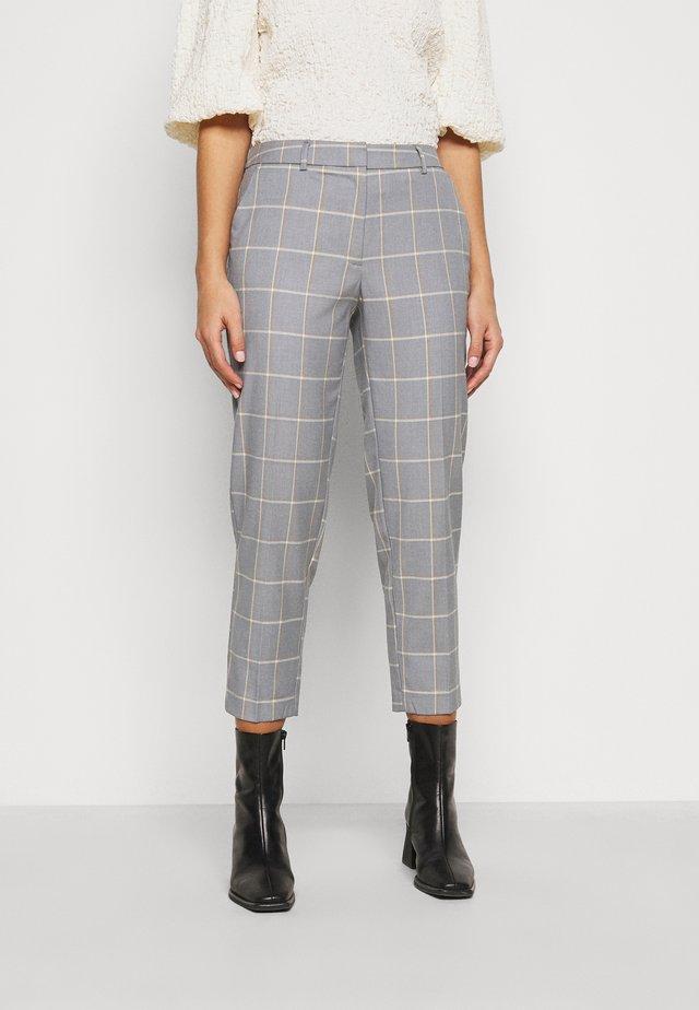 CHECK ELASTIC BACK NAPLES ANKLE GRAZER - Trousers - light grey