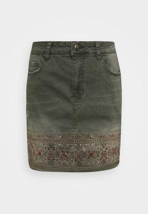 FAL OSAKA - Áčková sukně - verde militar