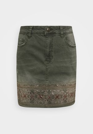FAL OSAKA - A-line skirt - verde militar