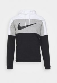 Nike Performance - DRY  - Mikina s kapucí - white/dark grey heather/black - 0