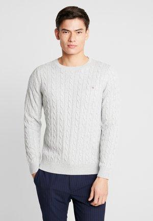 CABLE CREW - Stickad tröja - light grey melange